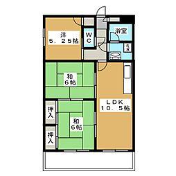 アメニティハウスI[1階]の間取り