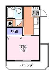 ハイツヒラヤマ[3階]の間取り