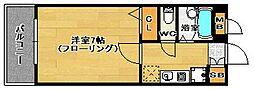 福岡県福岡市南区三宅1丁目の賃貸マンションの間取り