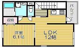 Osaka Metro今里筋線 清水駅 徒歩17分の賃貸アパート 1階1LDKの間取り