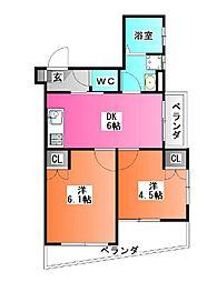 東京都北区西が丘1の賃貸マンションの間取り