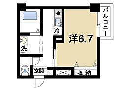 奈良県奈良市大宮町6丁目の賃貸マンションの間取り