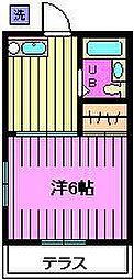 藤ハイツ[102号室]の間取り