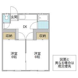 真壁アパート[103号室号室]の間取り