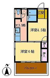 第三久栄荘[202号室]の間取り