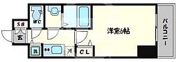 ララプレイス阿波座駅前フェリオ 10階1Kの間取り
