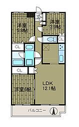 LANAI HILLSIDE 1188[4階]の間取り