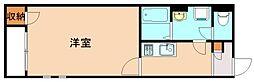 JR筑豊本線 新飯塚駅 3.6kmの賃貸アパート 2階1Kの間取り