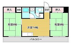 第2山藤ビル[2階]の間取り