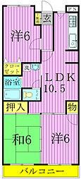 第3パールメゾン増田[5階]の間取り