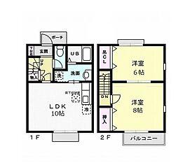 [テラスハウス] 茨城県常総市内守谷町きぬの里3丁目 の賃貸【/】の間取り
