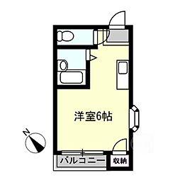 アルコバレーノ[4階]の間取り