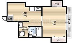 奥村第5マンション[5階]の間取り