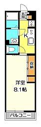 東京都小金井市東町3丁目の賃貸アパートの間取り