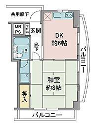 30スペース[3階]の間取り