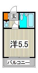 ジョイフル西川口第2[603号室]の間取り