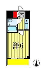 カスタリア船橋[6階]の間取り