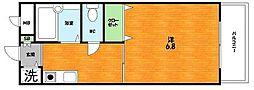 大阪府枚方市西牧野3丁目の賃貸マンションの間取り