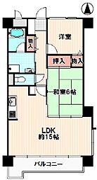 ライオンズマンション弓之町[4階]の間取り