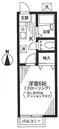 東京都練馬区旭町1丁目の賃貸アパートの間取り