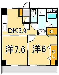 柳生北斗ビル[1階]の間取り