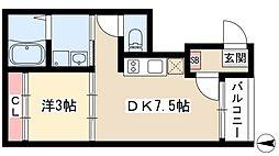 ファミリエ Nagoya 3階1DKの間取り