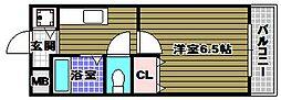 ラパス高倉台[2階]の間取り