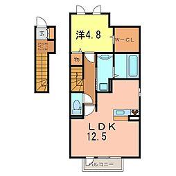 D-room西別所[206号室]の間取り
