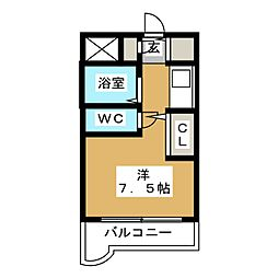 キャッスルマンション箱崎 B号館[2階]の間取り