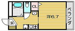 アンソレイエ・シャンブル[105号室]の間取り