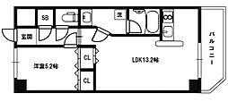 メゾンカジサン[8階]の間取り