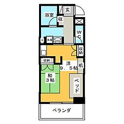 鶴舞ガーデンコート[3階]の間取り