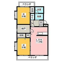 エモシオン静岡[2階]の間取り