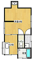 [一戸建] 愛媛県新居浜市新須賀町3丁目 の賃貸【/】の間取り