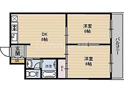 菫橋ハイツ[5階]の間取り