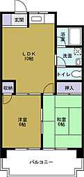 第2武智マンション[9階]の間取り