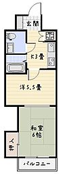 プレジールK[304号室]の間取り
