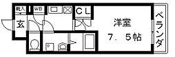 CASSIA高井田SouthCourt[1005号室号室]の間取り