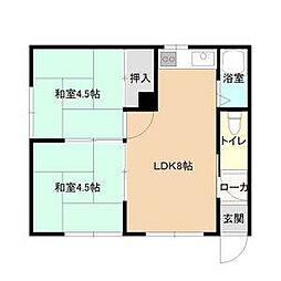 あやめマンション[2階]の間取り
