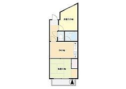 鏑木第7マンション[7502号室]の間取り
