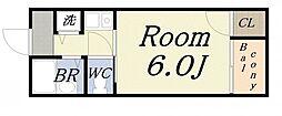 コアロード2000[4階]の間取り
