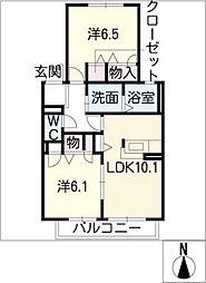 GREEN STAGE[2階]の間取り