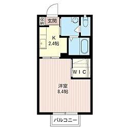 エテルノ・コートI[2階]の間取り