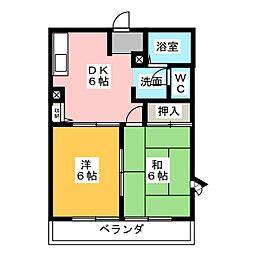 フレグランスチェリー A[2階]の間取り