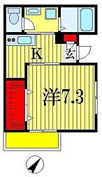 Casa Azul(カーサアズール) 1階1Kの間取り