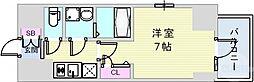 エスリード神戸元町ヒルズ 10階1Kの間取り