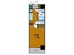 Osaka Metro中央線 弁天町駅 徒歩9分の賃貸マンション 2階1Kの間取り