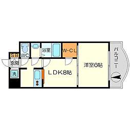 ノルデンタワー新大阪アネックス A棟[5階]の間取り
