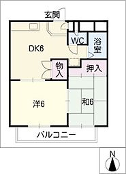 ウィステリア瀬戸[3階]の間取り