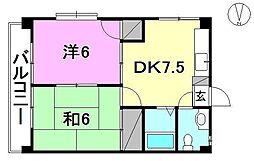 メゾンソレイユ(雄郡1)[401 号室号室]の間取り